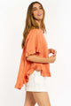 Cali Linen Top - RUST-Ellie Code