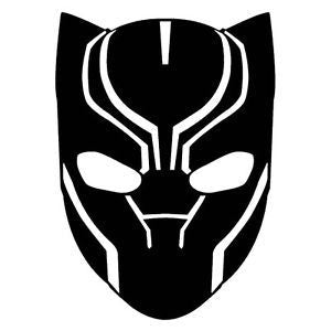 Black Panther face logo vinyl stencil pack