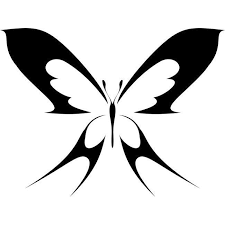 Butterfly Rainbow Reflective Heat Transfer Stencil