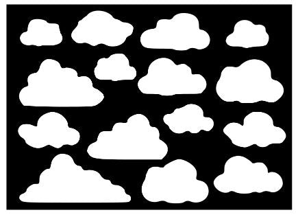 Clouds plastic Reusable stencil