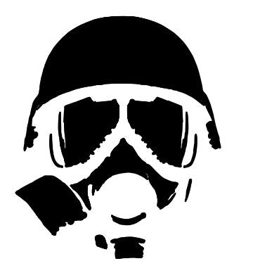 Gas Mask plastic Reusable stencil