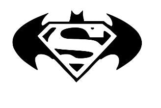 Superman and Batman logo vinyl stencil pack