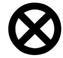 X-Men circle logo vinyl stencil pack