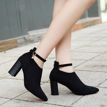 Load image into Gallery viewer, Elegant Suede Solid Color Zipper Block Heels Boots For Women