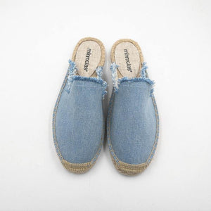 Solid Raw Canvas Fisherman Comfortable Slippers