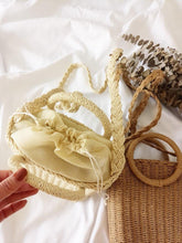 Load image into Gallery viewer, Vintage Ring Paper Rope Handbag Square Straw Bag Beach Bag