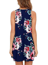 Load image into Gallery viewer, Spring / Summer Sleeveless Pullover Element Printed Pocket Swing Vest Dress-1