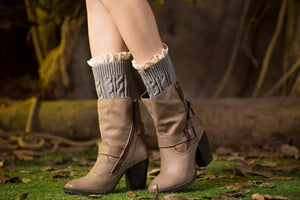 Boot cuff thick short-sleeved thick thick bamboo knit wool yarn socks - 12