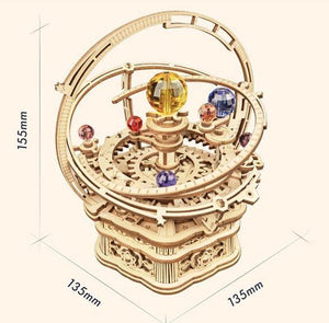 Wooden 3D assembled creative DIY puzzle - Starry Night Music Box