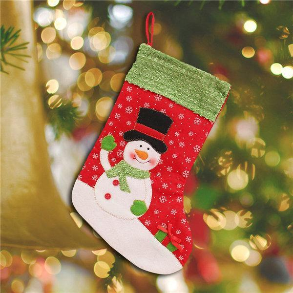 Christmas Decoration Socks Snowman Christmas  For Christmas Tree