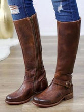 Load image into Gallery viewer, New Leather Stitching Ladies Knight Boots