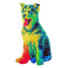 Load image into Gallery viewer, Rainbow Dog Wooden Puzzle
