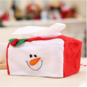 Lovely Durable Christmas Decorations Christmas Applique Rectangle Tissue Box Cover