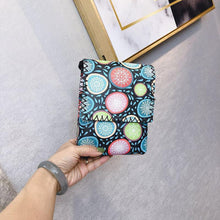 Load image into Gallery viewer, Women's Shoulder  Retro National Style Widened and Slanted Mobile Phone Double-layer Manual Bag