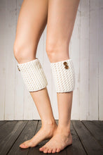 Load image into Gallery viewer, Boot cuff thick short-sleeved thick thick bamboo knit wool yarn socks - 13