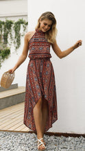Load image into Gallery viewer, 2018 Vintage Sleeveless Irregular Maxi Dress