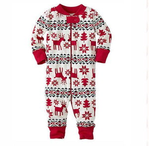 Family Christmas pajams printing set Xmas family suit -4
