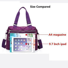 Load image into Gallery viewer, Women Waterproof Nylon Hot Sale Crossbody Bag Handbag Bag Dual-use Tote Bag