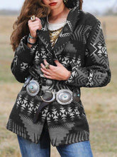 Load image into Gallery viewer, Autumn and winter new sizzling explosions suit collar collar geometric blouse wool coat