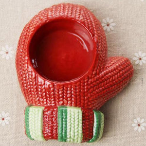 Cute Glove candle holder Xmas    Christmas party
