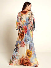 Load image into Gallery viewer, New Chiffon Big Flower Printed Loose Cover up