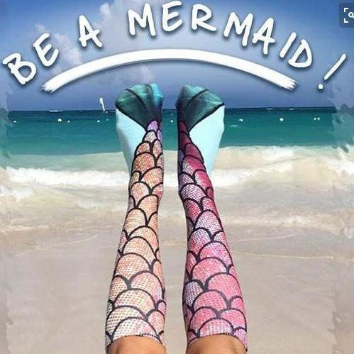 Printing stockings Mermaid socks