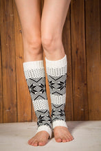 Load image into Gallery viewer, Boot cuff thick short-sleeved thick thick bamboo knit wool yarn socks - 14