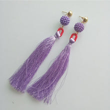 Load image into Gallery viewer, Bohemia charm high quality jewelry pendants with mix color tassel earring party