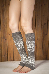 Boot cuff thick short-sleeved thick thick bamboo knit wool yarn socks - 14
