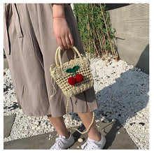 Load image into Gallery viewer, Handmade Straw Bag Originally Used As Folk Wind Fairy's Hand-held Messenger Bag