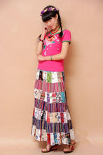 Load image into Gallery viewer, National Style Bohemian Floral Women Stitching Skirt
