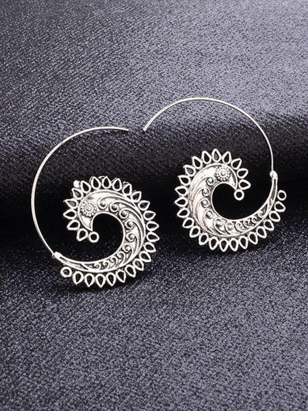 Earrings Spiral Decoration Wild Earrings Female Punk Fashion Jewelry Accessories