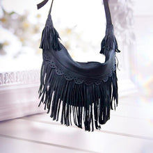 Load image into Gallery viewer, Women Handmade Leather Bag Classic Wild Tassel Crossbody Leather Bag