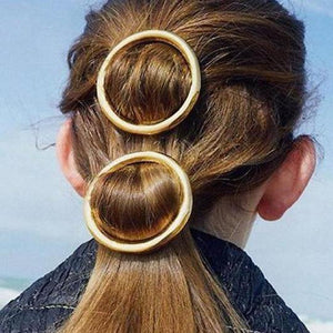 Simple Round Circle Shape Clip Spring Word Clip Side Headwear