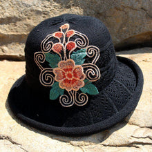 Load image into Gallery viewer, Yunnan national wind embroidered hat knit hat national wind hat folding cap