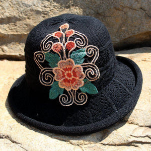 Yunnan national wind embroidered hat knit hat national wind hat folding cap