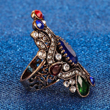 Load image into Gallery viewer, Spiral Sapphire Retro Style Ring