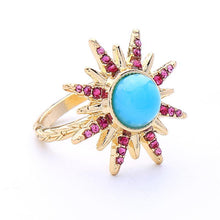Load image into Gallery viewer, Star colorful diamond ring personalized fashion hipster ring
