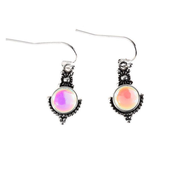 Moonstone Retro Colorful Gemstone Earrings