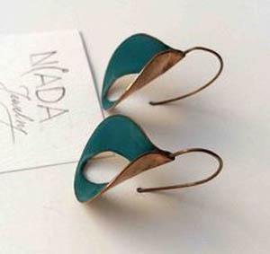 Leaf Type Retro Patina Earrings