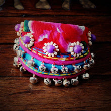 Load image into Gallery viewer, Yunnan ethnic wind bracelet Lijiang specialty cloth hand jewelry small bell dance accessories female bracelet