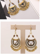 Load image into Gallery viewer, Ethnic Style Retro Metal Ball Tassel Earrings