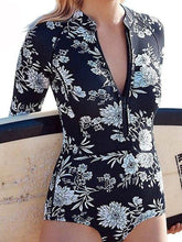 Load image into Gallery viewer, Long Sleeved Print One-piece Swimwear