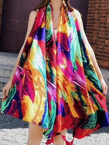 Fringed retro ethnic wind totem cotton and linen sunscreen shawl-5