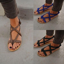 Load image into Gallery viewer, Roman sandals flat with toe sandals round head female