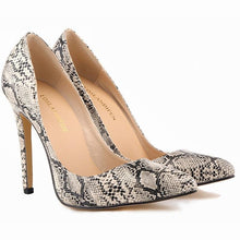Load image into Gallery viewer, Serpentine Leopard Zebra Pattern High Heel Women'S Shoes