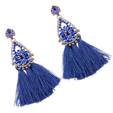 Load image into Gallery viewer, 8 color Women s long earrings hanging drops tassels earring for Xmas bohemia party