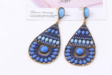 Load image into Gallery viewer, Bohemian fashion personality retro colorful rice beads handmade earrings