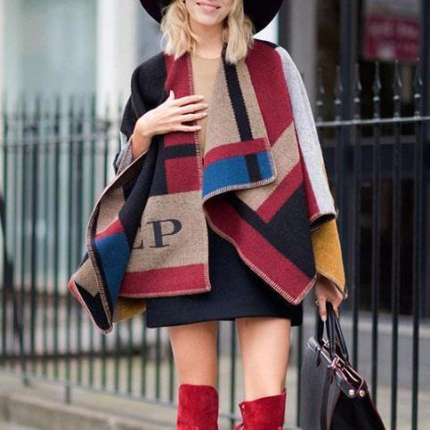Fashion Color Matching Cape Scarf