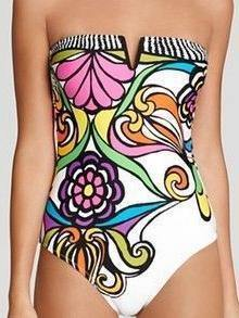 Siamese Printed Bikini One Piece Sexy Swimsuit